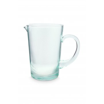 Pip Studio PIP STUDIO ΓΥΑΛΙΝΗ ΚΑΝΑΤΑ PITCHER TWISTED BLUE 1450ml