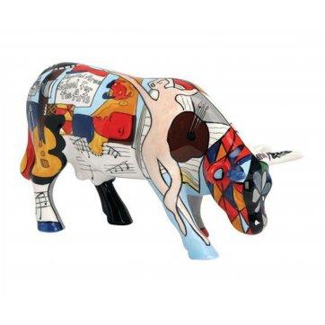 COW PARADE ΔΙΑΚΟΣΜΗΤΙΚΗ ΠΟΛΥΧΡΩΜΗ ΑΓΕΛΑΔΑ ΚΕΡΑΜΙΚΗ COW PARADE PICOWSO'S SCHOOL FOR THE ARTS 16,5cm