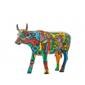 COW PARADE ΔΙΑΚΟΣΜΗΤΙΚΗ ΠΟΛΥΧΡΩΜΗ ΑΓΕΛΑΔΑ POLYRESIN COW PARADE MOO YORK CELEBRATION 30,5cm