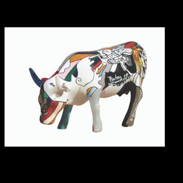 COW PARADE ΔΙΑΚΟΣΜΗΤΙΚΗ ΠΟΛΥΧΡΩΜΗ ΑΓΕΛΑΔΑ POLYRESIN COW PARADE PI-COW-SSO 10cm