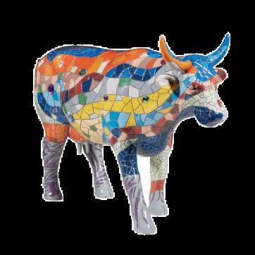 COW PARADE ΔΙΑΚΟΣΜΗΤΙΚΗ ΠΟΛΥΧΡΩΜΗ ΑΓΕΛΑΔΑ POLYRESIN COW PARADE BARCELONA 30,5cm