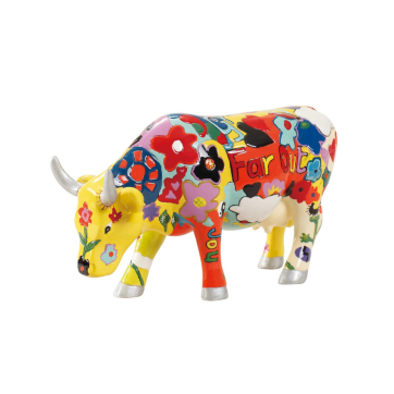 COW PARADE ΔΙΑΚΟΣΜΗΤΙΚΗ ΠΟΛΥΧΡΩΜΗ ΑΓΕΛΑΔΑ POLYRESIN COW PARADE GROOVY MOO 15cm