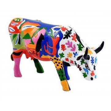 COW PARADE ΔΙΑΚΟΣΜΗΤΙΚΗ ΠΟΛΥΧΡΩΜΗ ΑΓΕΛΑΔΑ POLYRESIN COW PARADE A LA MOOTISSE 15cm