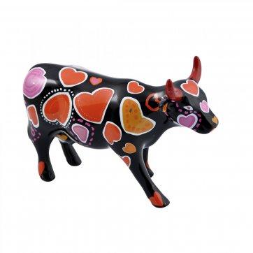 COW PARADE ΔΙΑΚΟΣΜΗΤΙΚΗ ΠΟΛΥΧΡΩΜΗ ΑΓΕΛΑΔΑ ΚΕΡΑΜΙΚΗ COW PARADE COW-WEEN OF HEARTS 16,5cm