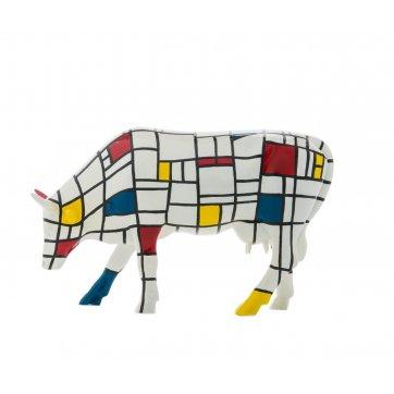 COW PARADE ΔΙΑΚΟΣΜΗΤΙΚΗ ΠΟΛΥΧΡΩΜΗ ΑΓΕΛΑΔΑ POLYRESIN COW PARADE MOONDRIAN 30,5cm