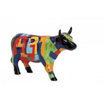 COW PARADE ΔΙΑΚΟΣΜΗΤΙΚΗ ΠΟΛΥΧΡΩΜΗ ΑΓΕΛΑΔΑ ΚΕΡΑΜΙΚΗ COW PARADE ART OF AMERICA 16,5cm