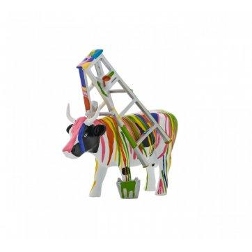 COW PARADE ΔΙΑΚΟΣΜΗΤΙΚΗ ΠΟΛΥΧΡΩΜΗ ΑΓΕΛΑΔΑ POLYRESIN COW PARADE MUUU TRAVIESA 15cm