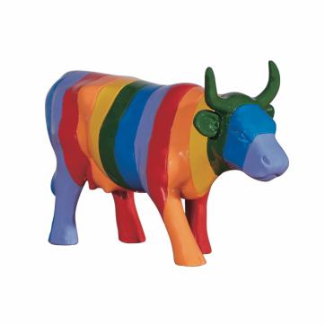COW PARADE ΔΙΑΚΟΣΜΗΤΙΚΗ ΠΟΛΥΧΡΩΜΗ ΑΓΕΛΑΔΑ POLYRESIN COW PARADE MINHA VAQUINA 15cm