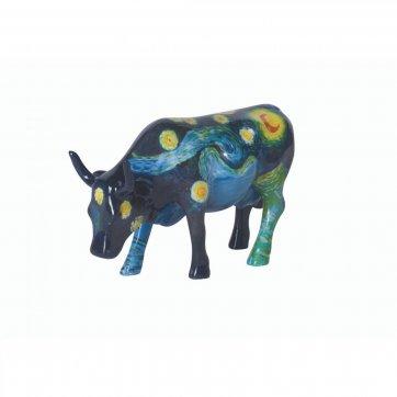COW PARADE ΔΙΑΚΟΣΜΗΤΙΚΗ ΠΟΛΥΧΡΩΜΗ ΑΓΕΛΑΔΑ POLYRESIN COW PARADE VAN GOGH 10cm - ΣΚΟΥΡΟ ΜΠΛΕ