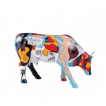 COW PARADE ΔΙΑΚΟΣΜΗΤΙΚΗ ΠΟΛΥΧΡΩΜΗ ΑΓΕΛΑΔΑ POLYRESIN COW PARADE PICOWSO'S SCHOOL FOR THE ARTS 30,5cm